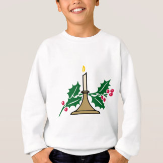Agasalho vela e bagas do Natal