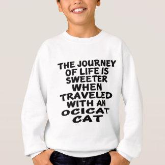 Agasalho Viajado com gato de Ocicat