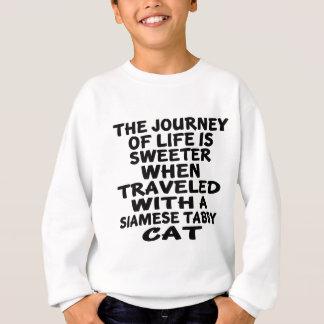 Agasalho Viajado com o gato de gato malhado Siamese