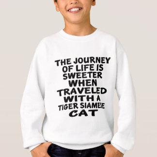 Agasalho Viajado com o gato siamese do tigre