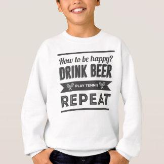 Agasalho Vida feliz do tênis das bebidas da cerveja