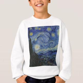 Agasalho Vincent van Gogh - noite estrelado. Pintura da