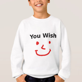 """Agasalho """"Você desejo"""" com smiley face vermelho"""