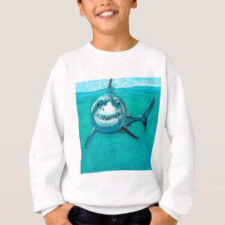 """Agasalho """"Wayne"""" o grande tubarão branco"""