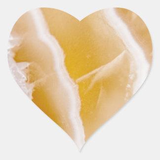 Ágata amarela ensolarada adesivo coração
