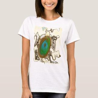 Ágata da arte abstracta | Brown Camiseta