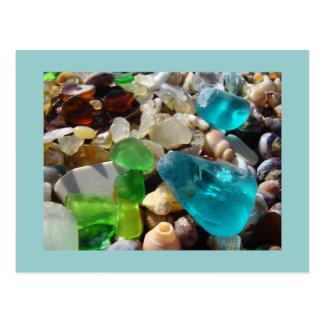 Ágatas azuis do vidro do mar verde dos cartão de