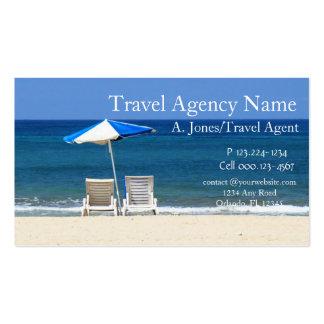 Agência de viagens cartoes de visita