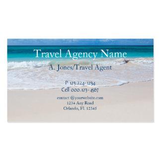 Agência de viagens cartoes de visitas
