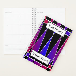 "Agenda Art deco ""fraturado"" por Kenneth Yoncich"