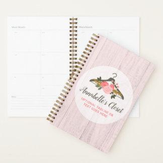 Agenda Boutique cor-de-rosa floral da forma do armário do