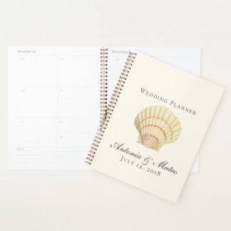 Agenda Casamento do Seashell do Sandy Beach do Scallop do