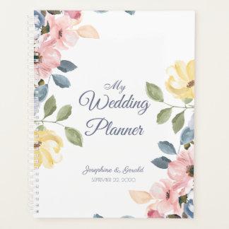 Agenda Casamento roxo cor-de-rosa azul Pastel da flor