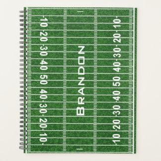 Agenda Design do campo de futebol semanal/mensalmente
