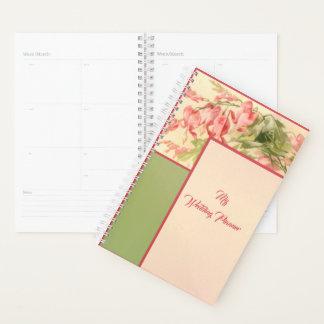 Agenda Diário floral do rosa e do verde