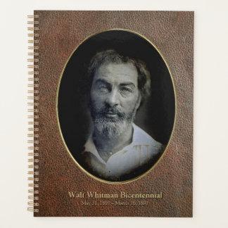Agenda Falso-Couro bicentenário de Walt Whitman