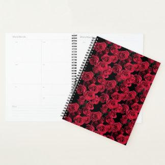 Agenda Flor floral do jardim de rosa vermelha