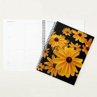 Agenda Flores amarelas do jardim de Susan de olhos pretos