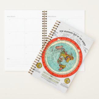 Agenda Mapa padrão novo da terra lisa Earther do mundo