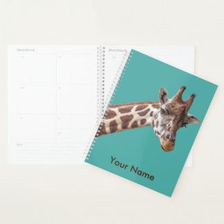 Agenda Nome personalizado retrato do girafa