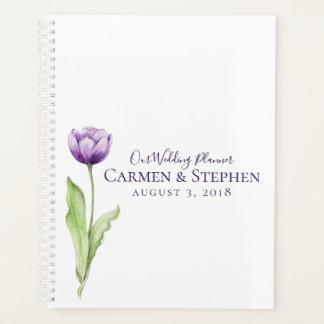 Agenda Profundo minimalista - casamento da tulipa do roxo