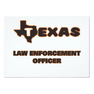 Agente da autoridade de Texas Convite 12.7 X 17.78cm