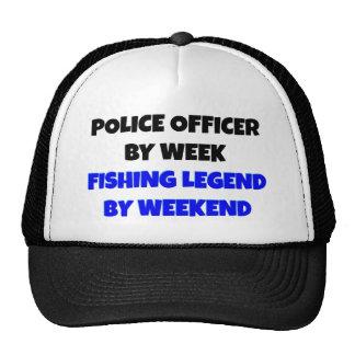 Agente da polícia da legenda da pesca boné