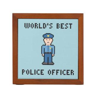 Agente da polícia do pixel do mundo o melhor