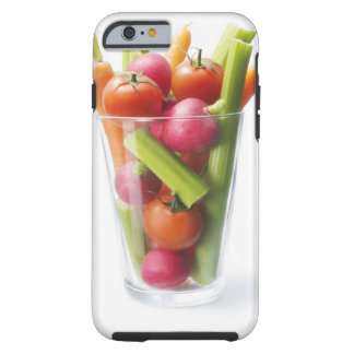 Agitação do vegetal cru capa tough para iPhone 6