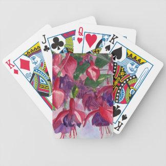 Agitação fúcsia cartas de baralho