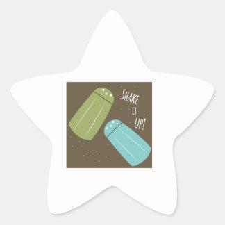 Agite-o acima adesivos em forma de estrelas