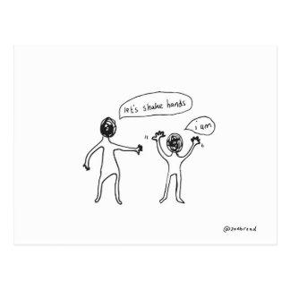 agite o cartão das mãos