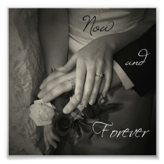 Agora e para sempre Wedding entrega eu te amo o qu Impressão De Foto