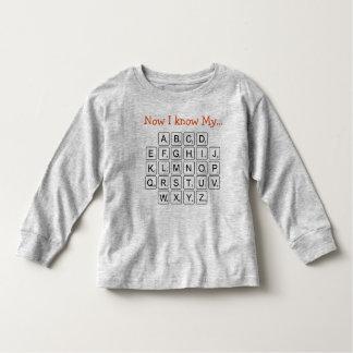 Agora eu sei o meu… camiseta infantil