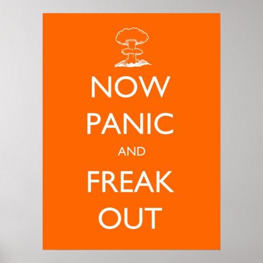 Agora pânico e para fora poster arrepiante