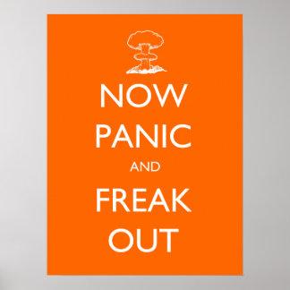 Agora pânico e para fora poster arrepiante pôster