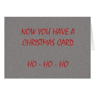 Agora você tem um cartão de Natal