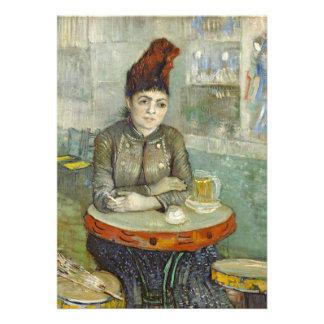 Agostina Segatori em Café du Tambourin por Van Gog Convite Personalizado