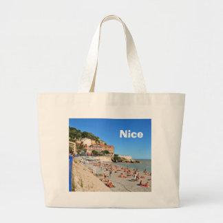 Agradável. Riviera francês Bolsa Tote Grande