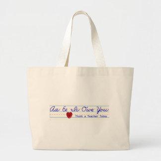 Agradeça a uma sacola do professor bolsa tote grande