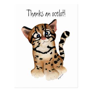 Agradece a um cartão do Ocelot