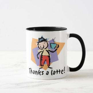 Agradece a um latte! Caneca de café