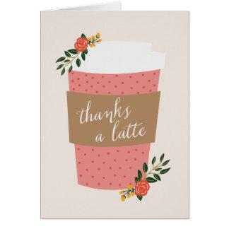 Agradece a um Latte Cartão De Nota