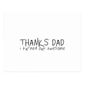 Agradece ao pai… Presente do dia dos pais Cartão Postal