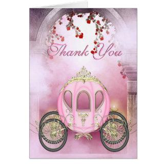 Agradecimento Você da princesa Carruagem Enchanted Cartão De Nota