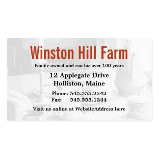 Agricultura do negócio do fazendeiro do suporte da cartão de visita