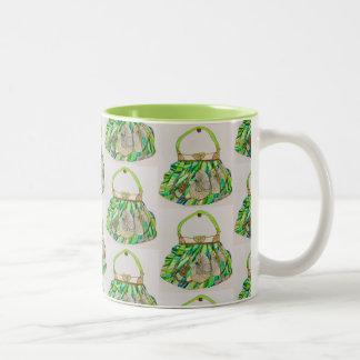 Agrida para o café, chá com design da bolsa de caneca de café em dois tons