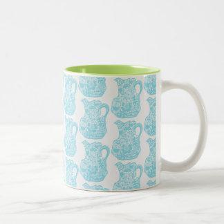 Agrida para o café, chá com design do jarro de caneca de café em dois tons