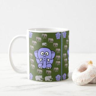 agride elefantes das crianças caneca de café
