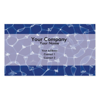 Água azul abstrata cartao de visita